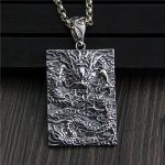 Pendant Necklace Dragon 100% Real 925 <b>Sterling</b> <b>Silver</b> Vintage Cool Fashion Amulets And Talismans Men <b>Jewelry</b> Boeddha