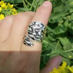Drop shipping Tiny Flowers Vintage Gorha Spoon Ring Buttercup <b>Antique</b> Silver Plated Handmade Adjustable Rings Fashion <b>Jewelry</b>