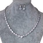 WEIMANJINGDIAN Brand Round Shape Cubic Zirconia Crystal Necklace Earrings Wedding Bridal CZ Zircon <b>Jewelry</b> Sets