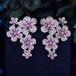 GODKI 48mm Flower Boom Luxury Trendy Full Mirco Paved Cubic Zirconia Naija <b>Wedding</b> Drop Earring Fashion <b>Jewelry</b>