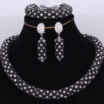 Traditional Bridal Jewelry Set Black <b>Silver</b> Costume Jewelry Choker Necklace Set Free Shipping Fine Jewelry Sets For Women