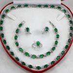 Prett Lovely Women's Wedding charm Jew.657 3 Choices Charming Crystal Ring Necklace Earrings Bracelet <b>Jewelry</b> Set