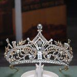 New Gold Wedding Hair Accessories Crystal Rhinestone Tiaras Crowns <b>Handmade</b> Big Crown Bride Women <b>Jewelry</b> Hair Ornaments Gifts