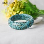 LIEBE ENGEL 2017 Vintage Handmade Resin Bangle Bracelet Stone Love Bracelet Party <b>Jewelry</b> Cuff For Women Mother's Gift 2017 Hot