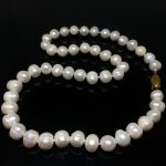 Newly freshwater cultured natural 7-8mm pearl beads diy charming necklace classical <b>jewelry</b> <b>making</b> 15 inch MY2067