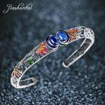 JIASHUNTAI Retro 925 Sterling Silver Bangles For Women Vintage Silver <b>Jewelry</b> Female <b>Handmade</b>