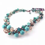 Retro Women's Exaggeration Mixing crystal ball <b>necklace</b> pearl turquoises Short Clavicle Chain statement choker <b>necklace</b> <b>Jewelry</b>