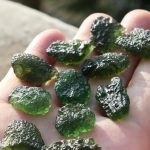 10-12g Free shipping Natural Moldavite Natural Czech meteorite Pendants fall rough stone crystal Energy stone random delivery