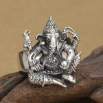 <b>Handmade</b> 925 silver ring elephant fortune buddha finger ring vingtage sterling silver good luck ring lucky <b>jewelry</b> ring
