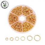 1 Box Mixed Split Iron Double Jump Rings forJewelry Making DIY 4 5 6 7 8 10mm Golden/Silver/<b>Antique</b> Bronze/Red Copper /Platinum