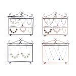 Mordoa Wrought Iron <b>Jewelry</b> Display Shelf Earrings Holder Stud Accessories Storage Rack <b>Jewelry</b> <b>Necklace</b> Pendant Display