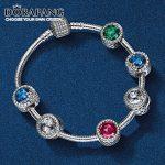 DORAPANG 100% 925 Sterling <b>Silver</b> <b>Bracelet</b> Clear CZ The Charm Of Safety Clips Bead Fit Pendant DIY <b>Bracelets</b> Set wholesale