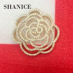 SHANICE 1pc 35x35mm Round Flower Hollow CZ Necklace Pendant Connector Locket Micro Paved CZ Tassels DIY <b>Making</b> <b>Jewelry</b> Accessory
