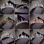 <b>Wedding</b> Tiara Hair <b>Jewelry</b> for Women Gold Crown Tiaras Bridal Headpiece Hair Clips Baroque Crown horquillas de pelo para mujer