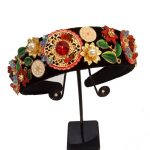 New Limited Edition Baroque Multicolor Flowers Crown Handmade Tiara Crystal Wide Headbands Wedding Hair <b>Jewelry</b> Gift For Women