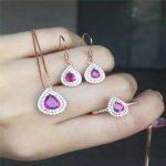 2016 fashion 925 sterling <b>silver</b> jewelry set natural Tourmaline <b>Earrings</b> Ring Pendant premium set free shipping