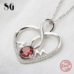 Aliexpress recommend 925 sterling silver love heart chain pendant&necklace with Zirconia diy fashion <b>jewelry</b> <b>making</b> women gifts