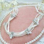 bridal headdress crystal white pearl hair band hair accessories female Korean <b>wedding</b> hair <b>jewelry</b>
