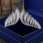 <b>Wedding</b> Crown Bridal Tiaras and Crowns full Cubic Zirconia Silver Color Hair Crown for Women 2018 New Hair Accessories <b>Jewelry</b>