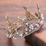 Crystal Bridal Crown Round Full Quinceanera Pageant Crowns And Tiaras Rhinestones <b>Wedding</b> Tiara Hair <b>Jewelry</b> GL-160