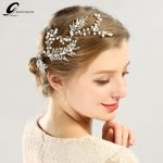 2018 <b>Handmade</b> Trendy Silver Gold Crystal Pearl Headbands Hair Accessories For Bride Wedding Women Headpiece Hair Vine <b>Jewelry</b>
