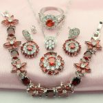 WPAITKY AAA Pomegranate Red Created Gargnt 925-Sterling-<b>Silver</b> Jewelry Sets For Women Necklace Pendant Drop Earrings Free Box