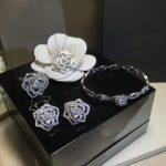 Brand Pure 925 Sterling <b>Silver</b> Jewelry For Women Rose Flower Wedding Jewelry Set Rose Flower Neckacle Earrings <b>Bracelet</b> Ring Set