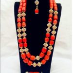 Coral <b>Necklace</b> Earrings Nigerian Wedding African Coral Beads <b>Jewelry</b> Set for Women Bridal Statement <b>Jewelry</b> Free Shipping ABH455