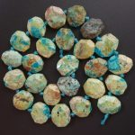 Free Shipping!!! 1 strand(Approx: 26Pcs)Natural Chrysocolla Loose Bead 15.5 inch M184 For <b>Jewelry</b> <b>Making</b>