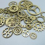 Wholesale Mix 100 pcs Vintage steampunk Charms Gear Pendant <b>Antique</b> bronze Fit Bracelets Necklace DIY Metal <b>Jewelry</b> Making