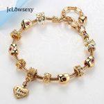 Gold Color Love Heart Pendant Crystal Charm Adjustable DIY Pan Snake Chain Bracelets For Women <b>Jewelry</b> <b>Making</b> Pulseira Feminina