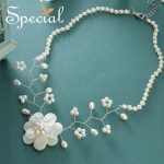 Special Natural Pearl Necklaces & Pendants Big Flower Sea Shell Maxi Necklace Romantic <b>Wedding</b> <b>Jewelry</b> Gifts for Women S1658N