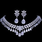 Emmaya Luxury Cubic Zirconia Bridal <b>Jewelry</b> Sets Tear Drop Crystal Rhinestone Party Wedding <b>Jewelry</b> <b>Necklace</b> Sets