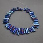 Wholsesale Price Titanium Blue Crystal Quartz Top Drilled Polished Point Pendants,Rock Quartz Crystal Women <b>Jewelry</b> <b>Making</b> Beads