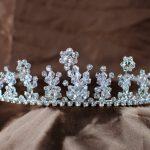 Floral Tiara Diadem Clear Austrian Rhinestones Crystal Crown Flowers Headband Bridal Wedding Party Brides Hair <b>Jewelry</b>