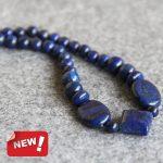 2017 New Necklace 12mm multicolor Cyan Lapis Lazuli Beads Stone Beads Necklace Women Girls Christmas gifts <b>Jewelry</b> <b>Making</b> Design