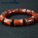 Lobular red sandalwood Bracelets Pattern <b>handmade</b> mill bamboo Beads hand string for Men Women <b>Jewelry</b>