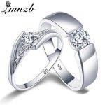 LMNZB Romantic Wedding Rings For Lover Original 925 <b>Sterling</b> <b>Silver</b> Couple Rings For Engagement Party <b>Jewelry</b> Wedding Bands R1-3
