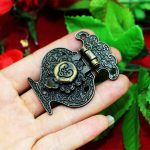 Wholesale Wooden <b>Jewellery</b> Box Vase Buckle Metal Box Hasp Latch Lock <b>Decorative</b> Hasp Antique Vintage Pattern Carved,Zinc Alloy