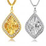 2018 Arabian Fashion 18K/925 Silver Necklace Pendants Zircon Embellishment Bridal Wedding <b>Jewelry</b> Gifts Fitting <b>Supply</b>