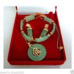 Prett Lovely Women's Wedding <b>Jewelry</b> gem stone pendant bracelet earrings sets + chain silver <b>jewelry</b>