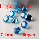 MRHUANG <b>Jewelry</b> <b>Supplies</b> Light Blue AAA Cubic Zirconia 7/8/9/10mm Round Zirconia DIY <b>Jewelry</b> Findings <b>Supplies</b>