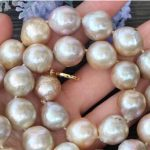 natural Purple Edison Nucleated Flameball Baroque Pearl <b>Necklace</b>