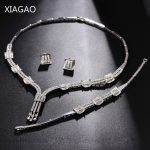 XIAGAO Parure Bijoux Femme Sets of <b>Jewelry</b> <b>Necklace</b> Earring Bracelet Women Crystal Wedding Decorations Costume Jewelery Sets