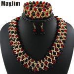 MayJim Statement necklace 2017 fashion <b>jewelry</b> sets Handmade beads chain crystal dubai <b>jewelry</b> sets Vintage Bijoux <b>Accessories</b>