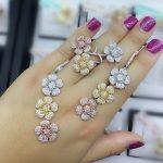 GODKI <b>Fashion</b> Luxury Super Shiny Gold Color AAA Cubic Zirconia Women Width Baguette Earring Ring Set