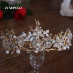 High-grade Baroque new retro bridal tiara crystal handmade flowers <b>wedding</b> dress accessories crown <b>jewelry</b> HD435
