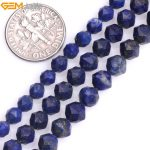 Gem-inside 5-7mm Natural Stone Beads Faceted Cambay Lapis Lazuli Beads For <b>Jewelry</b> <b>Making</b> Beads 15inch DIY Beads Jewellery Gift