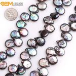 """Gem-inside Natural Top Drilled Black Coin Freshwater Cultured Pearls Beads for <b>Jewelry</b> <b>Making</b> 15"""" DIY <b>Jewelry</b>"""
