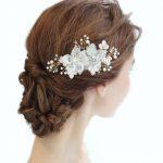 White Flower Bridal Hair Comb Fashion Wedding Hair Accessories <b>Handmade</b> Bridal Headpiece Girl's <b>Jewelry</b> Party Ornament